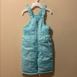 Girls aqua blue snow pants by Carter's 12 months